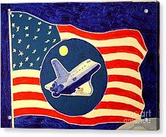 The Last Space Shuttle Acrylic Print by Bill Hubbard