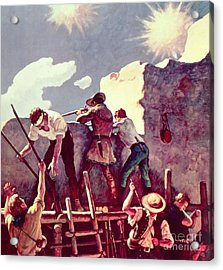 The Last Stand At The Alamo Acrylic Print by Newell Convers Wyeth