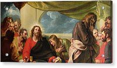 The Last Supper Acrylic Print by Benjamin West