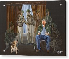 Acrylic Print featuring the painting The Last Survivor by Karen Wilson