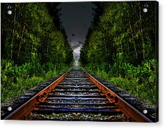 Acrylic Print featuring the photograph The Last Train Ride by Gary Smith