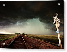 The Last Train To Darksville Acrylic Print