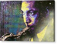 The Last Trane Acrylic Print by Bobby Zeik