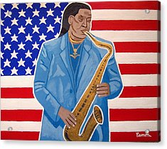 The Late Great Clarence Clemons Acrylic Print by Eamon Reilly