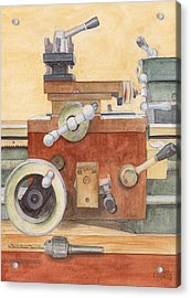 The Lathe Acrylic Print by Ken Powers