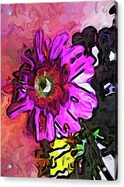 The Lavender Flower Above The Yellow Flower Acrylic Print