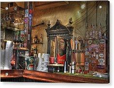 The Lazy Gecko Bar Key West Acrylic Print by Scott Bert