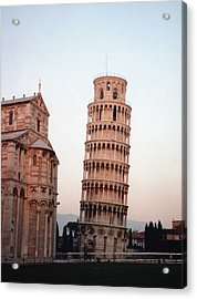 The Leaning Tower Of Pisa Acrylic Print by Marna Edwards Flavell