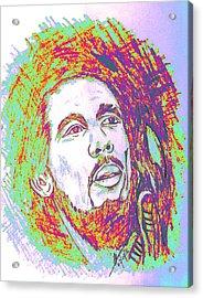 The Legendary Bob Marley Acrylic Print by Collin A Clarke