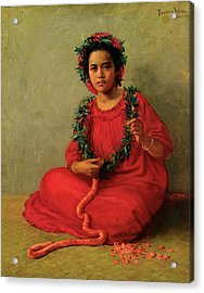 The Lei Maker Acrylic Print