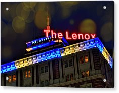 Acrylic Print featuring the photograph The Lenox And The Pru - Boston Marathon Colors by Joann Vitali
