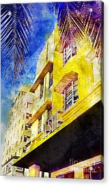 The Leslie Hotel South Beach Acrylic Print by Jon Neidert