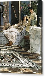 The Letter From An Absent One Acrylic Print by Sir Lawrence Alma-Tadema