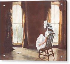 The Letter Acrylic Print by Linda Crockett