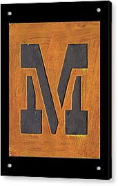 The Letter M Acrylic Print