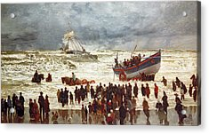 The Lifeboat Acrylic Print by William Lionel Wyllie