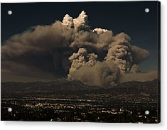Acrylic Print featuring the photograph The Light At The Top Of The Smoke Cloud by Ron Dubin