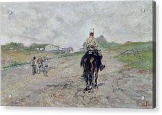 The Light Cavalryman Acrylic Print by Giovanni Fattori
