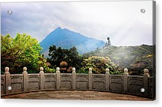 The Light Of Buddha Acrylic Print