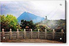 The Light Of Buddha Acrylic Print