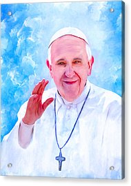 The Light Of Pope Francis Acrylic Print