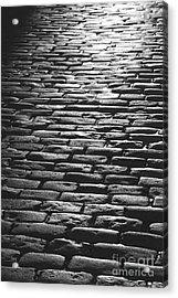 The Light On The Stone Pavement Acrylic Print by Hideaki Sakurai