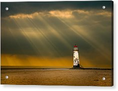 The Lighthouse As The Storm Breaks Acrylic Print