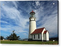 The Lighthouse At Cape Blanco Acrylic Print by James Eddy