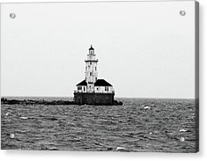 The Lighthouse Black And White Acrylic Print