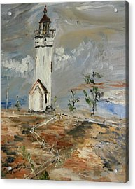 The Lighthouse Acrylic Print by Edward Wolverton