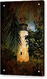 The Lighthouse In Key West Acrylic Print by Susanne Van Hulst