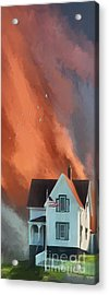 Acrylic Print featuring the digital art The Lighthouse Keeper's House by Lois Bryan