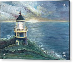 The Lighthouse Acrylic Print by Nadine Rippelmeyer