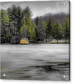 Acrylic Print featuring the photograph The Lighthouse On Frozen Pond by David Patterson