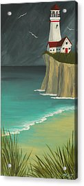 The Lighthouse On The Cliff Acrylic Print