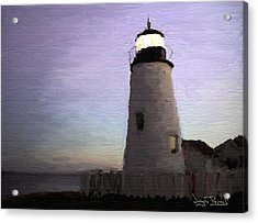 Acrylic Print featuring the painting The Lighthouse by Wayne Pascall
