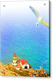 The Lighthouse Acrylic Print by Wingsdomain Art and Photography