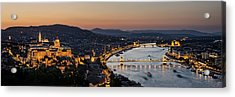 The Lights Of Budapest Acrylic Print by Thomas D Morkeberg
