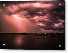 The Lightshow Acrylic Print by Marvin Spates
