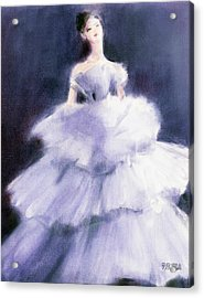 The Lilac Evening Dress Acrylic Print by Beverly Brown