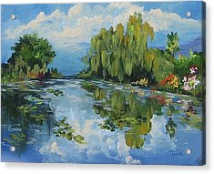 The Lily Pond At Giverny  Acrylic Print by Torrie Smiley