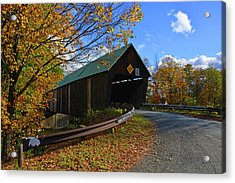 The Lincoln Covered Bridge Acrylic Print by Mike Martin