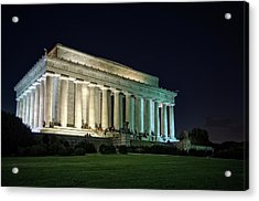 The Lincoln Memorial At Night Acrylic Print by Greg Mimbs
