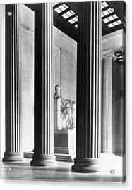The Lincoln Memorial Acrylic Print by War Is Hell Store