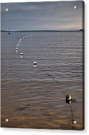 Acrylic Print featuring the photograph The Line by Jouko Lehto
