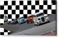 The Line-up Acrylic Print by Betty Northcutt