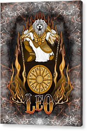 The Lion Leo Spirit Acrylic Print