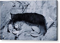 The Lion Of Lucerne Acrylic Print by Dan Sproul