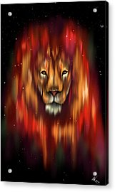 The Lion, The Bull And The Hunter Acrylic Print