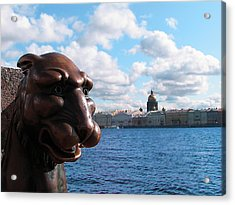 The Lion Which Remembers Much Acrylic Print by Yury Bashkin